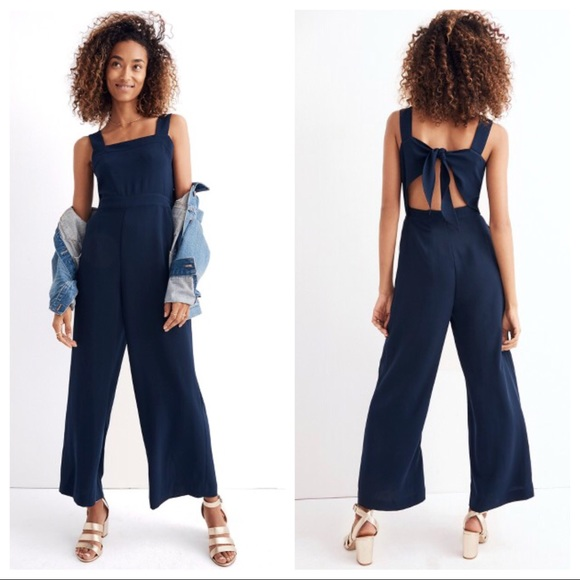 4c8926538085 Madewell Apron Bow Back Jumpsuit